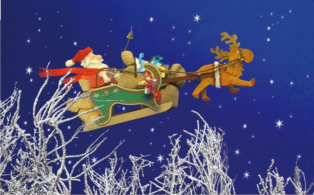Immagini Babbo Natale Con Slitta.Illustratori It Franca Trabacchi Babbo Natale Con Slitta